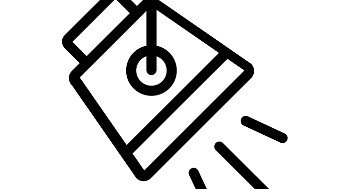 Line drawing of spotlight pointing to lower right corner
